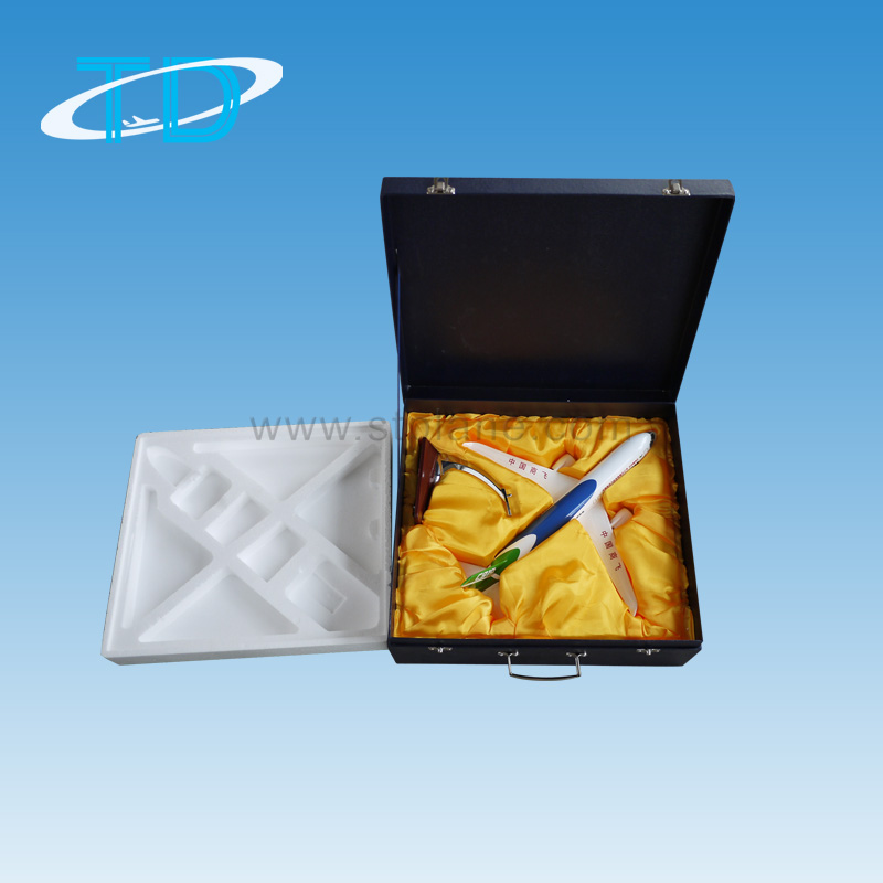 Gift box with pvc & silk inner